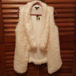 Faux sherpa teddy vest